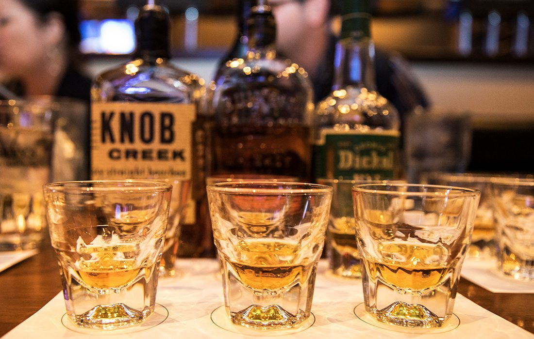 big whiskey flight at big whiskey's