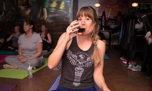 Sip and Shavasana at Cellar + Plate's WOGA