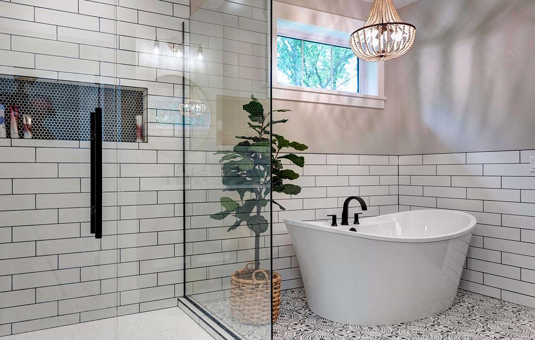 Modern Farmhouse Master Bath Design