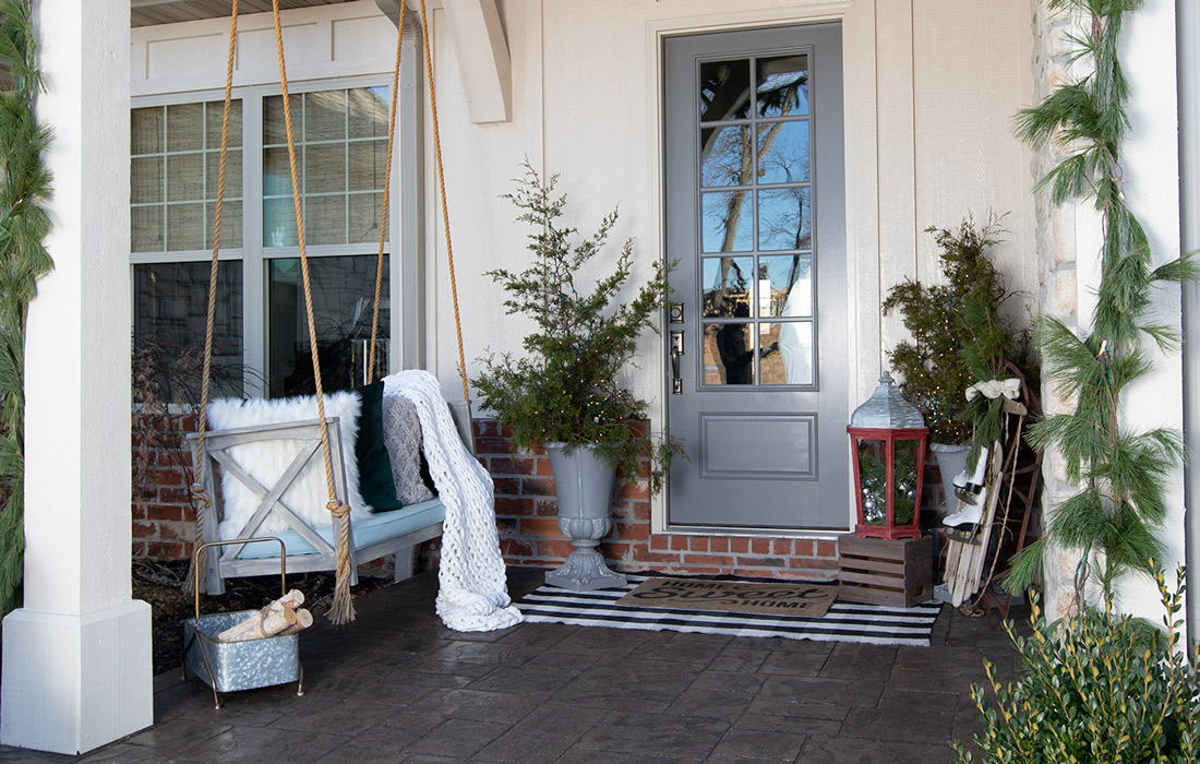 Creating Your Warm Winter Porch